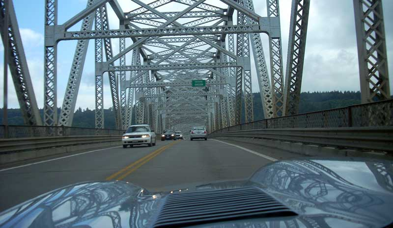 Crossing the Columbia River over the Lewis & Clark Bridge at Longview, WA