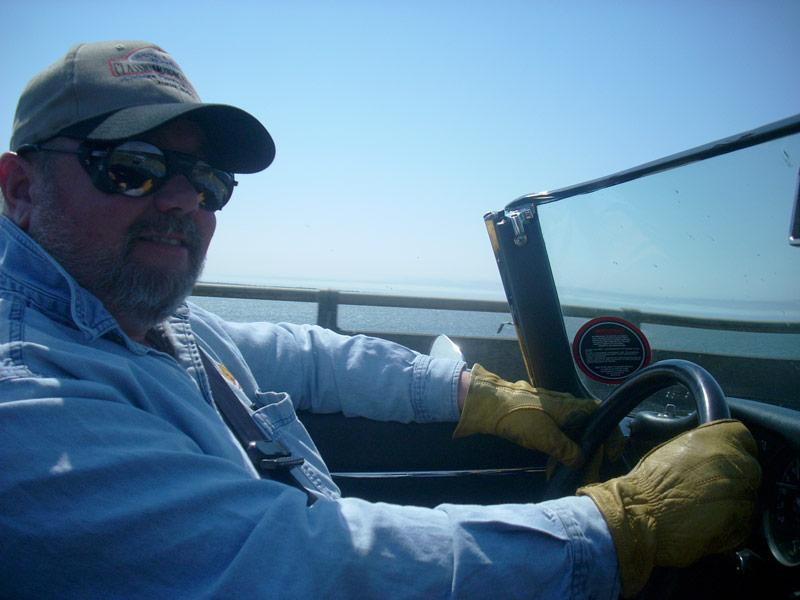 Chuck on the Columbia River Bridge.