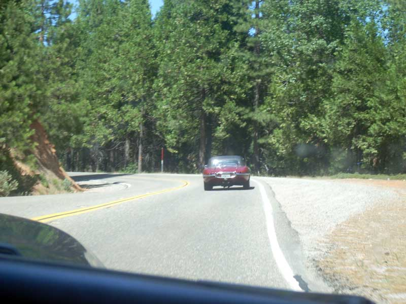 Following Larry into the Sierra foothills.