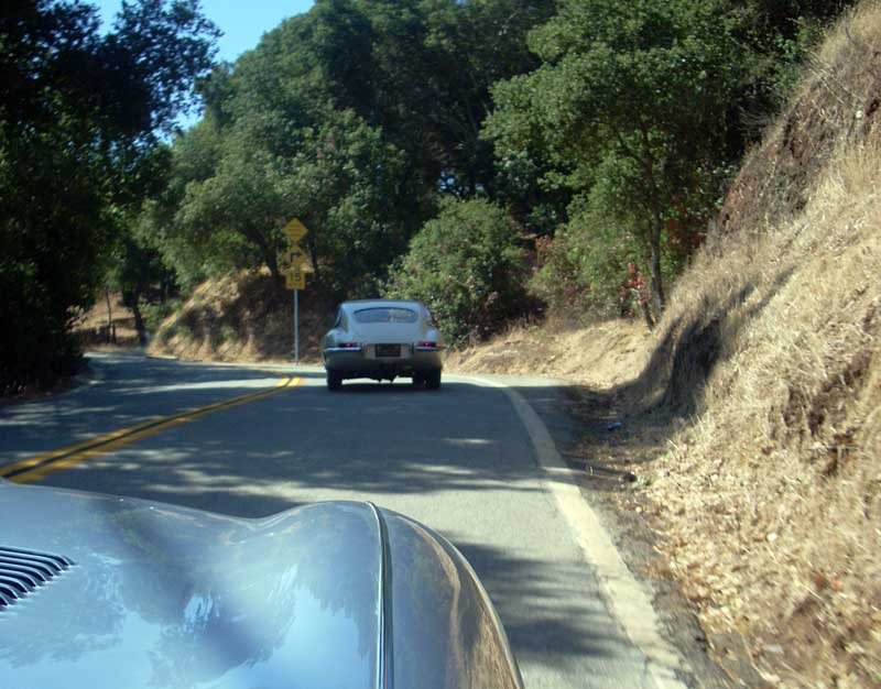 Following Jerry Mouton through the Palo Alto hills.