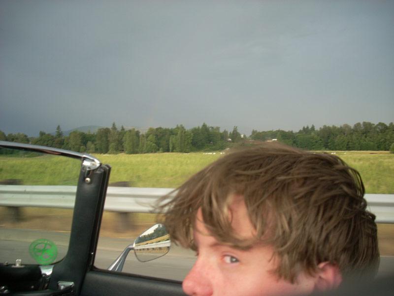 Nick and the rainbow.