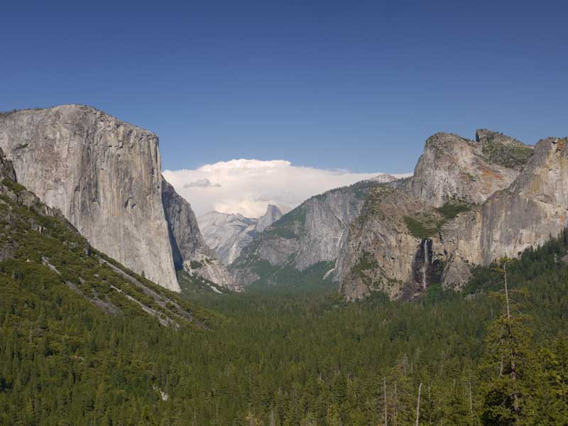 Getting closer. A more traditional view of the Yosemite Valley.