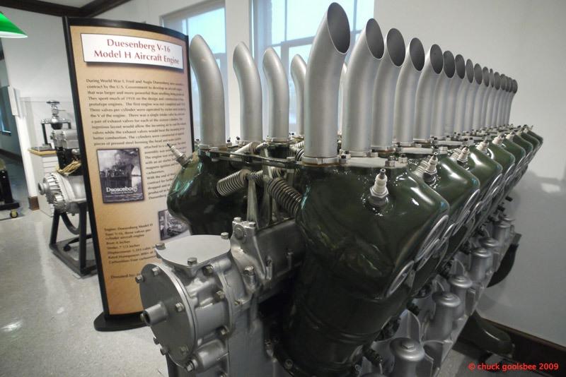 43. Duesenberg V-16 Aero Engine, Auburn, Indiana.