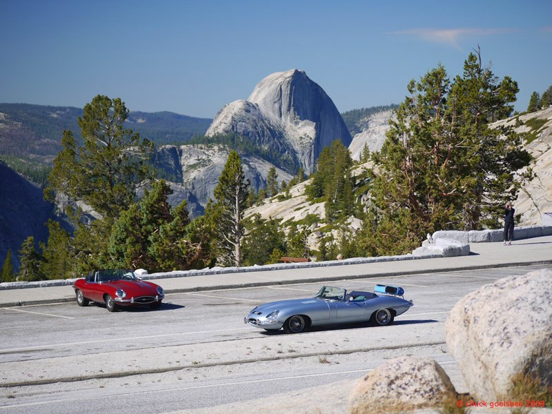 37. E-types at Olmstead Overlook, Yosemite, California.
