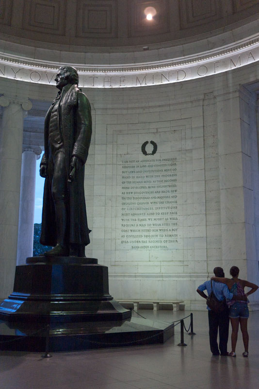 Inside the Jefferson Memorial.