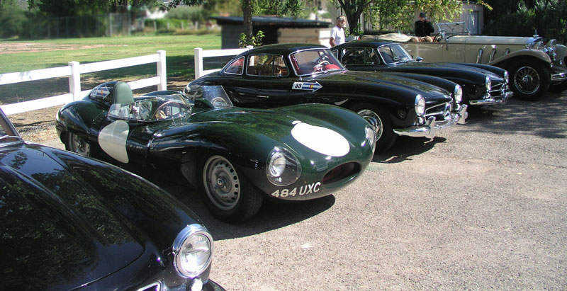 Four Mercs and One Jag, tough choices.