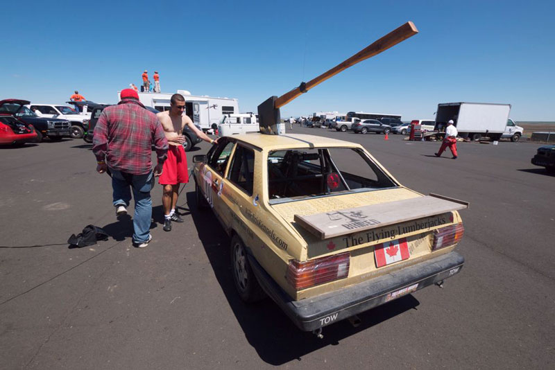 Canadian team at the 24 Hours of Lemons