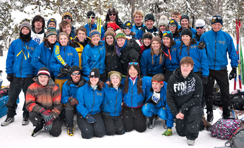 The 2010-2011 Bend Senior High School Nordic Ski Team. Can you spot Nick?