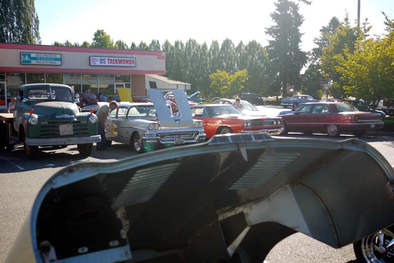 The Arlington, WA BK Bunch cruise-in… an informal car show every Saturday evening all year around.