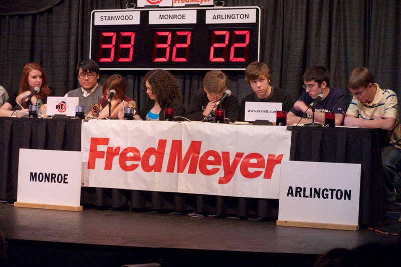 The score near the end of the match. You can see the look of despair on the AHS team.