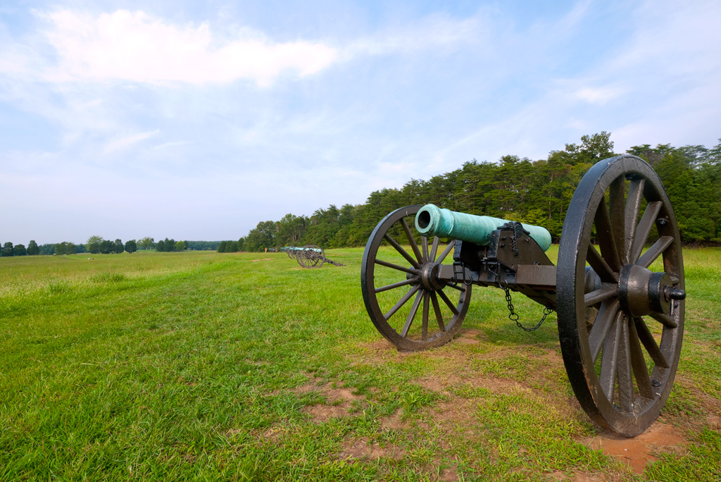 Guns of the Confederate line