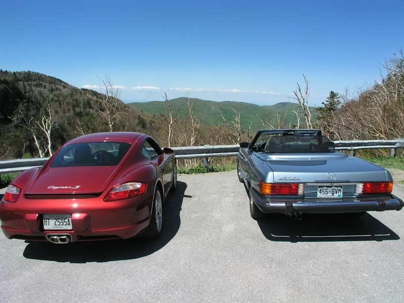 Porsche Cayman & M-B 450sl