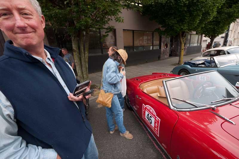 Alan Chockie and his 1958 Alfa Romeo Giulietta Spider.