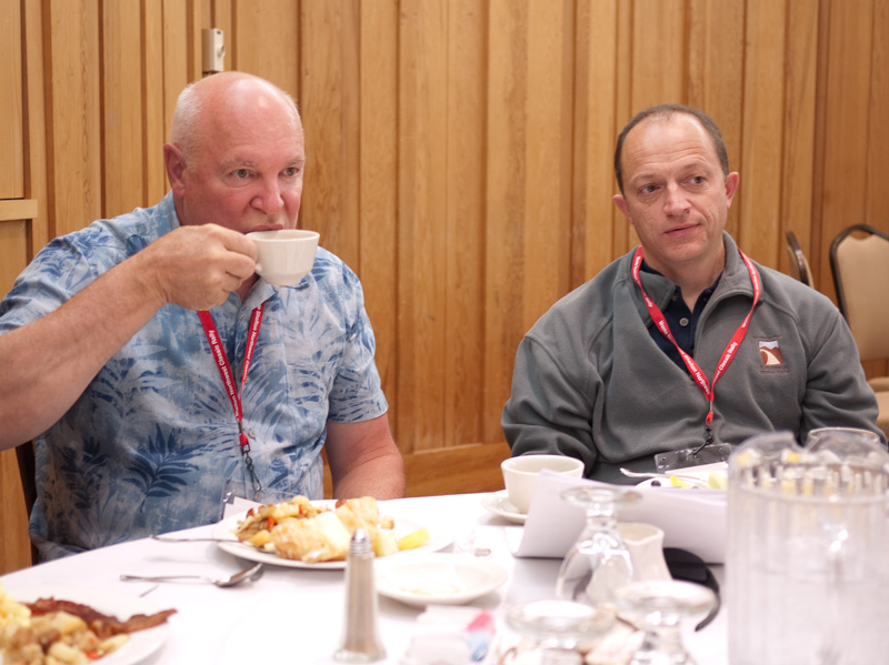 Duane Crandall and Bill Vilardi at Breakfast.