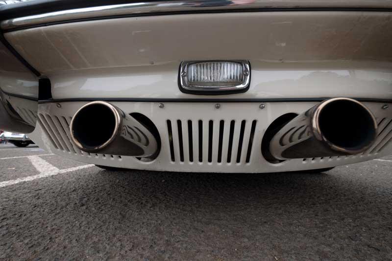 Pretty Pipes of a Porsche 356SC.