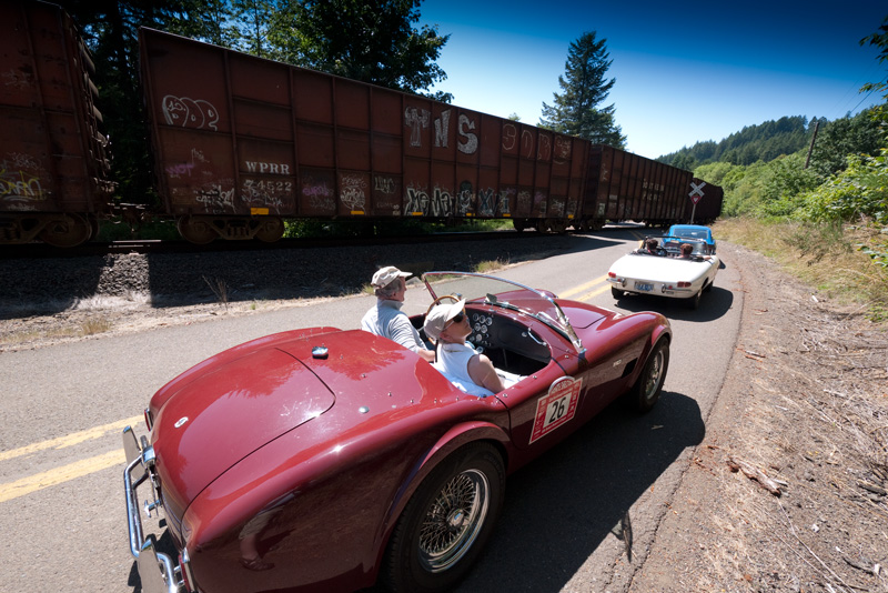 Ken and Bernice Ivey in their 1965 Shelby Cobra 289... sit and wait.
