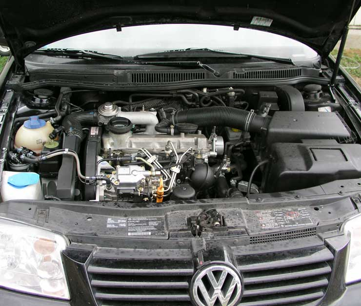 Above: The amazing 1.9 Liter, VW TDI engine. The thing that makes my