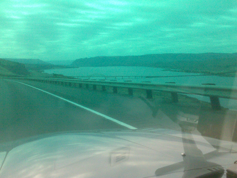 I-90 crosses the Columbia.