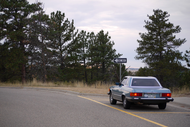 Above: Trading driving duties at a rest area in eastern Montana.