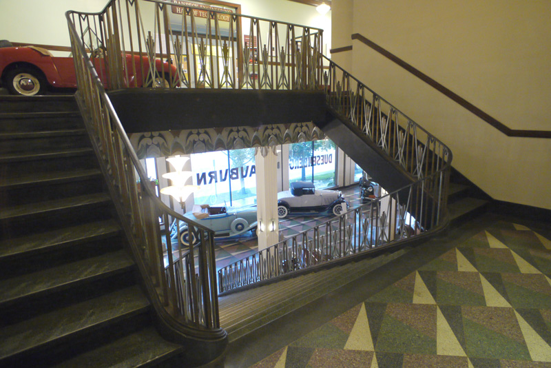 The front stairwell of the ACD Museum. Hey car spotters, can you name the machine at the top? Hint: NOT ACD.