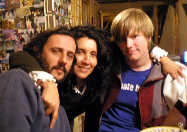 Chris & his host parents