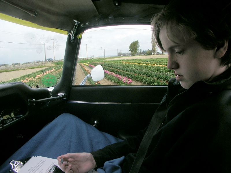 Nick Navigating, The Tulip Rallye, 2009