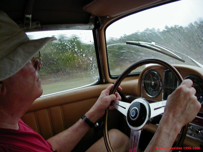 Dad in the 300sl, Forza Amelia Vintage Rally, 2001