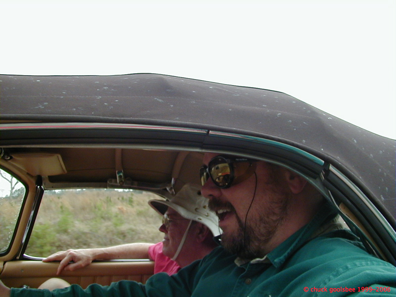 Dad & I in the 300sl, Forza Amelia Vintage Rally, 2001