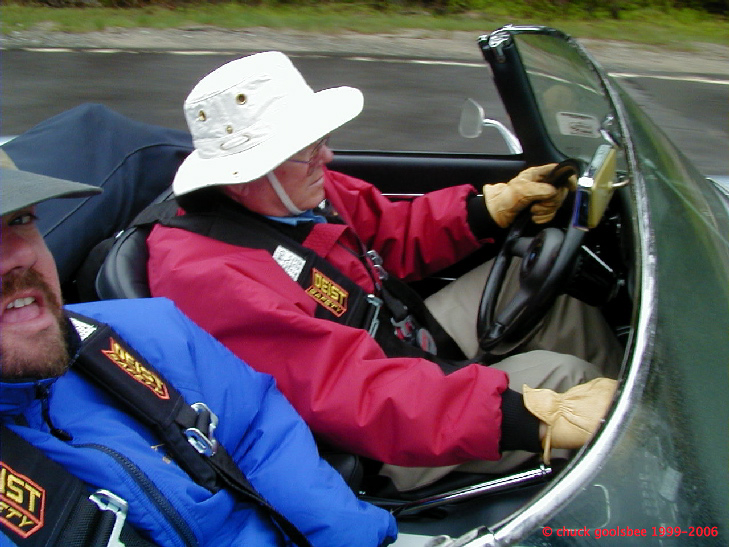 Dad & I in the 65E, New England 2000 Rally, 2000