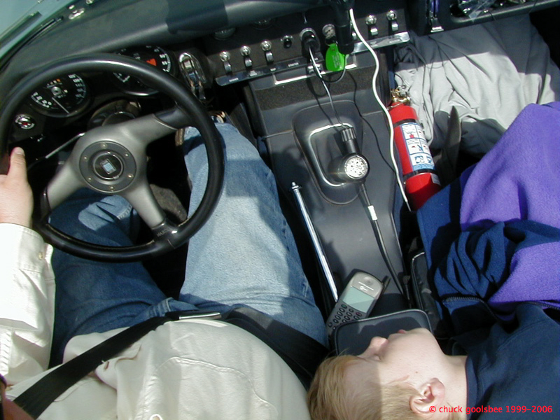 Nick napping in the 65E, 2003