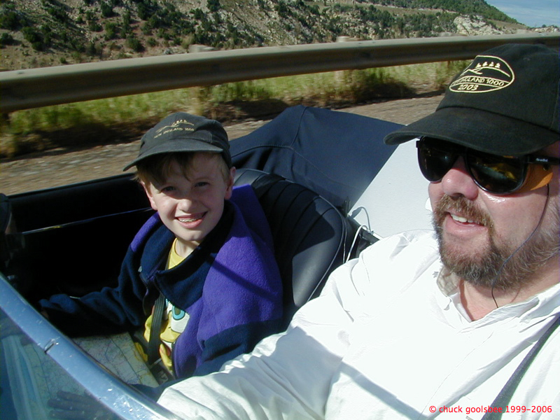Nick & I bring the 65E home, 2003
