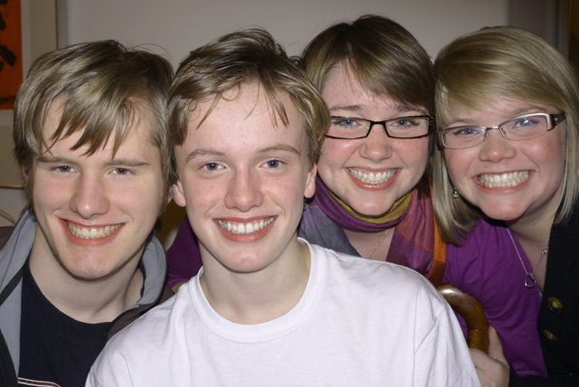 L—R: Christopher, Nicholas, Lauren, & Caroline in December 2009.