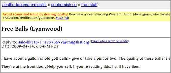 Craigslist snohomish free