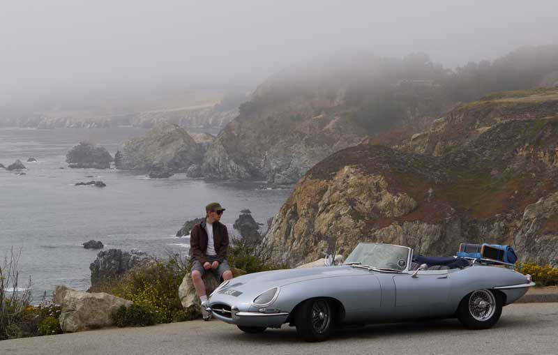 Chris & the 65E in Big Sur