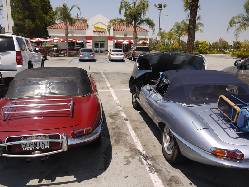 Cooling off the cars and riders at In-N-Out