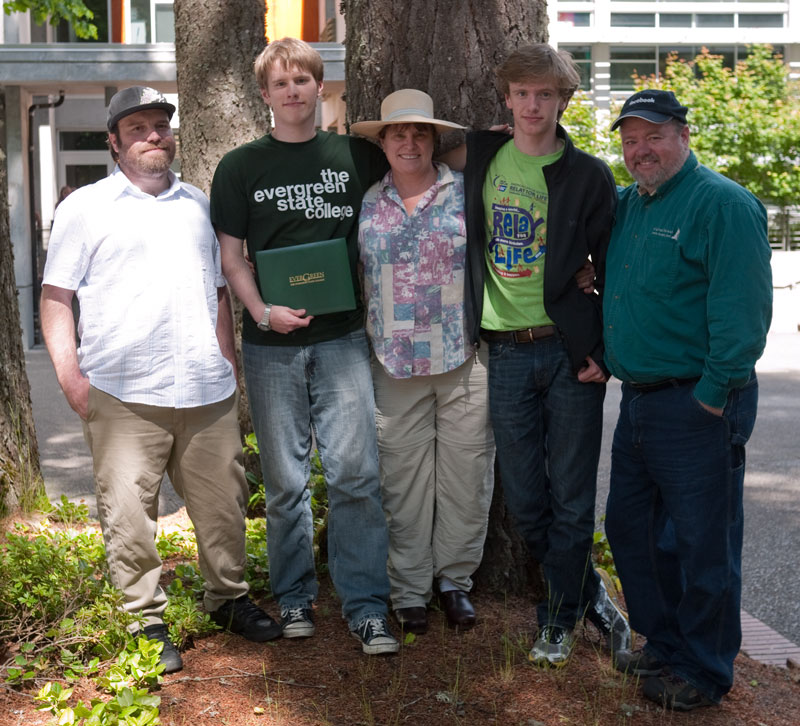 The whole family: Adam Doak, Chris, Sue, Nick, and yours truly.