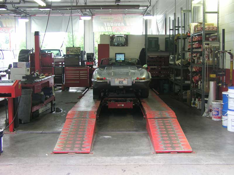 on the alignment rack