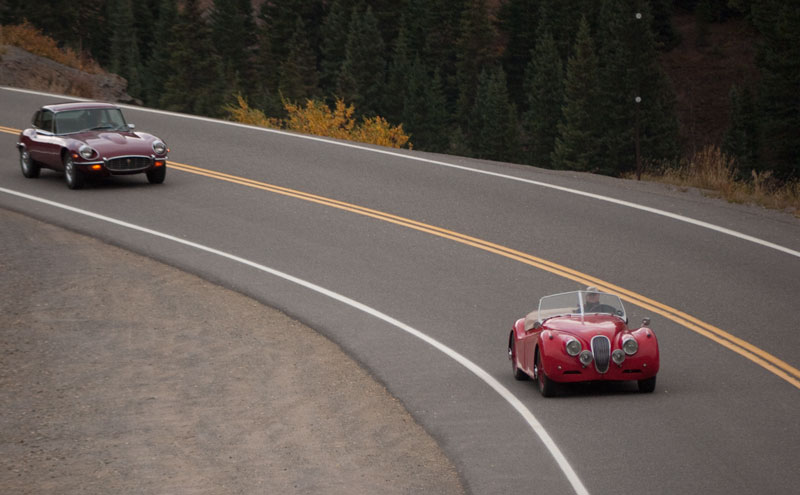Mark Stephenson's XK 120 followed by Mike King's Series 3