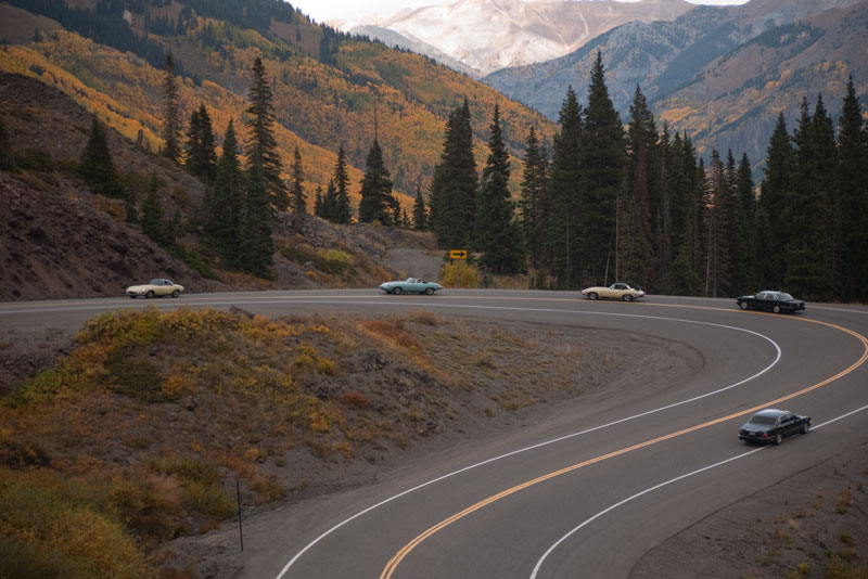 The tour winds its way up the Million Dollar Highway.