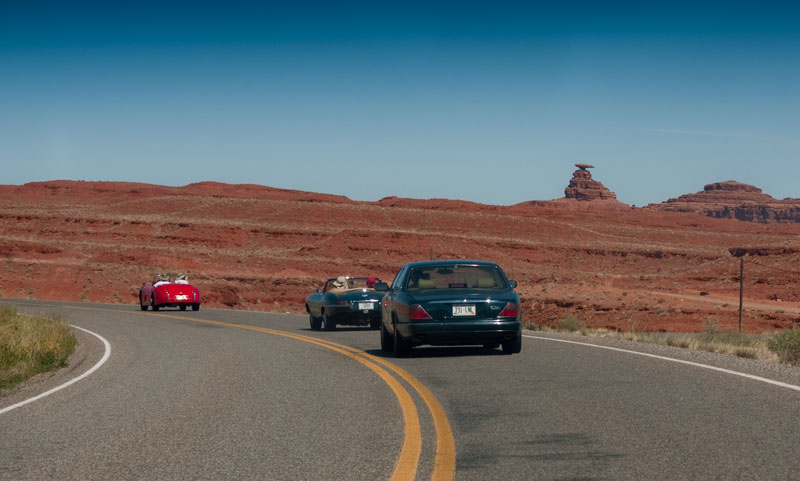 The SOL Tour leaves Monument Valley, and drive by Mexican Hat.