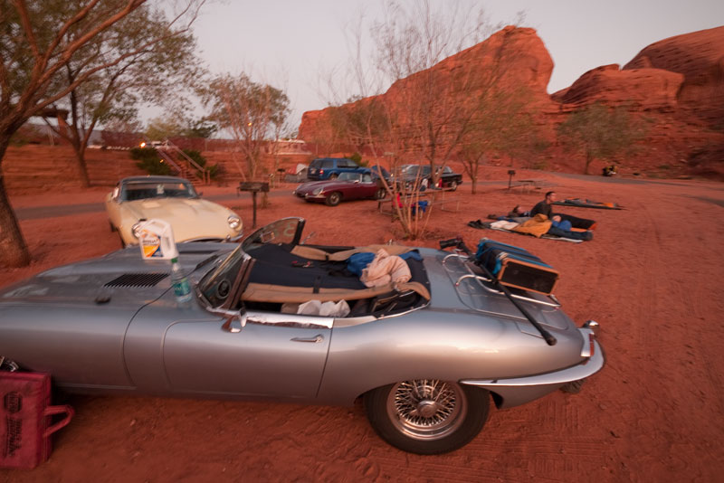 The E-type serving as the world's smallest, least-practical RV.