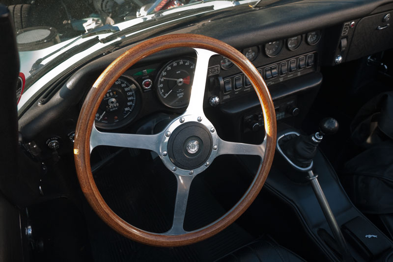 David Langley fitted a steering wheel from an XK onto his S2 E-type. I think it looks great.