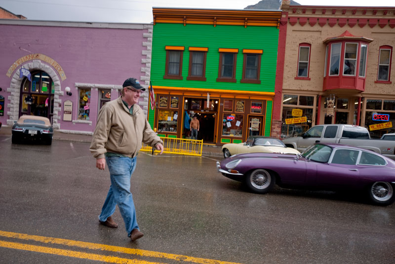 Larry Wade walking the Streets of Silverton, CO.