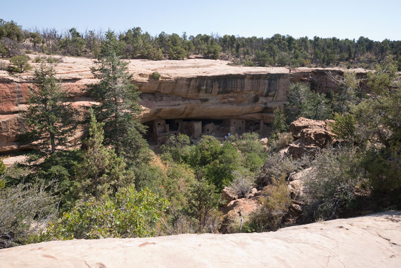 Spruce Tree House from across the canyon.