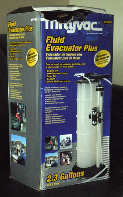 The Mityvac 7201 Fluid Evacuator Plus arrives at my office