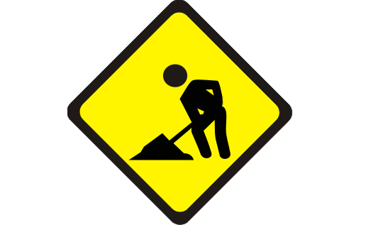 lame ass under construction sign