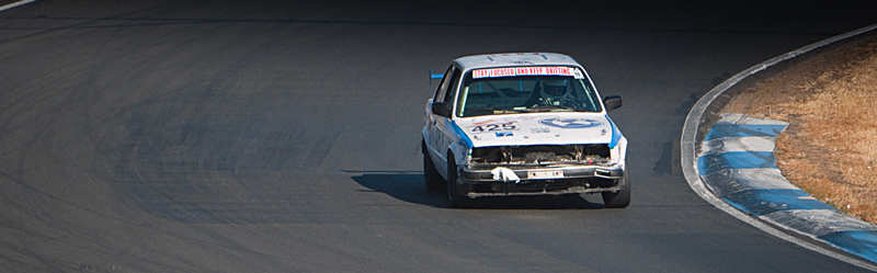 The Clowncar navigates Turn 1 at Thunderhill