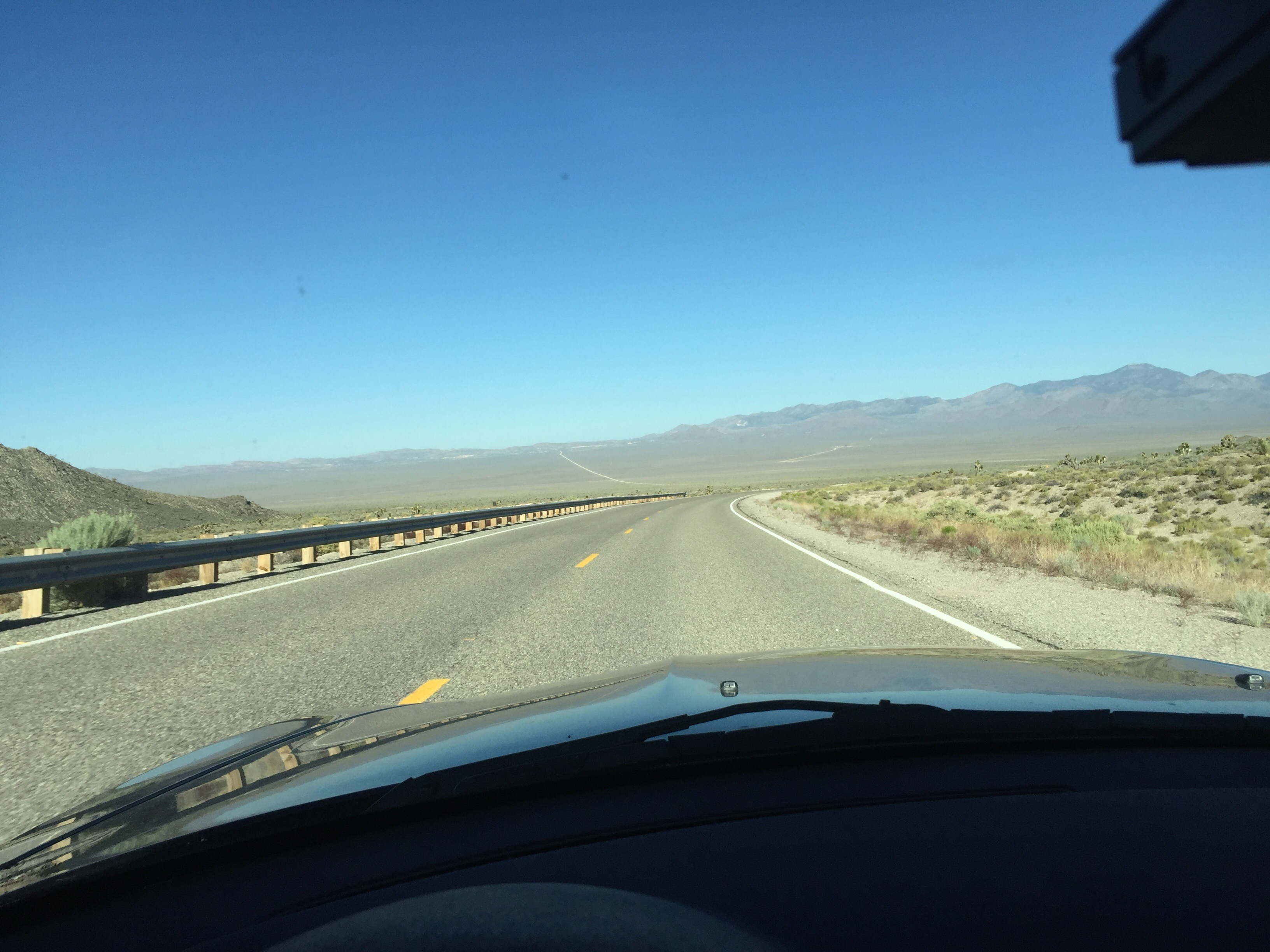 The road to Area 51 in southern Nevada